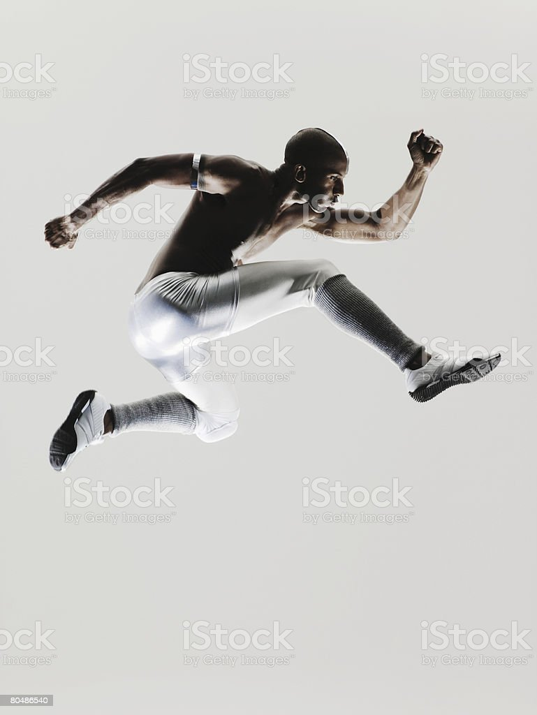 An athlete jumping royalty-free 스톡 사진
