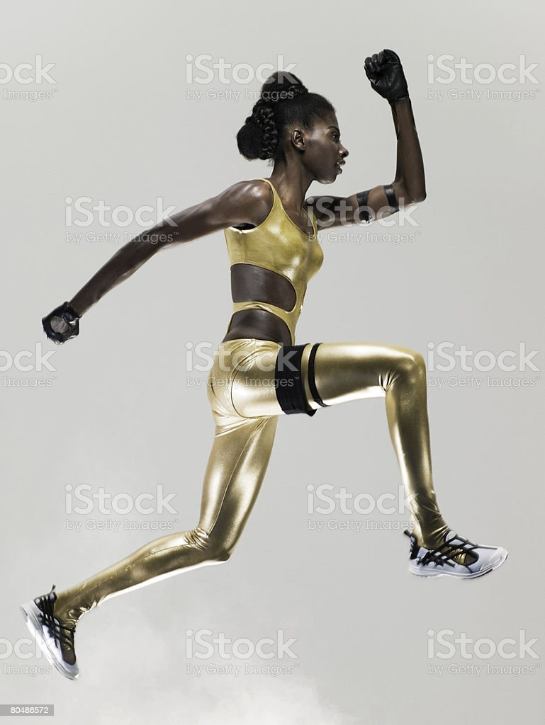 An athlete jumping 免版稅 stock photo