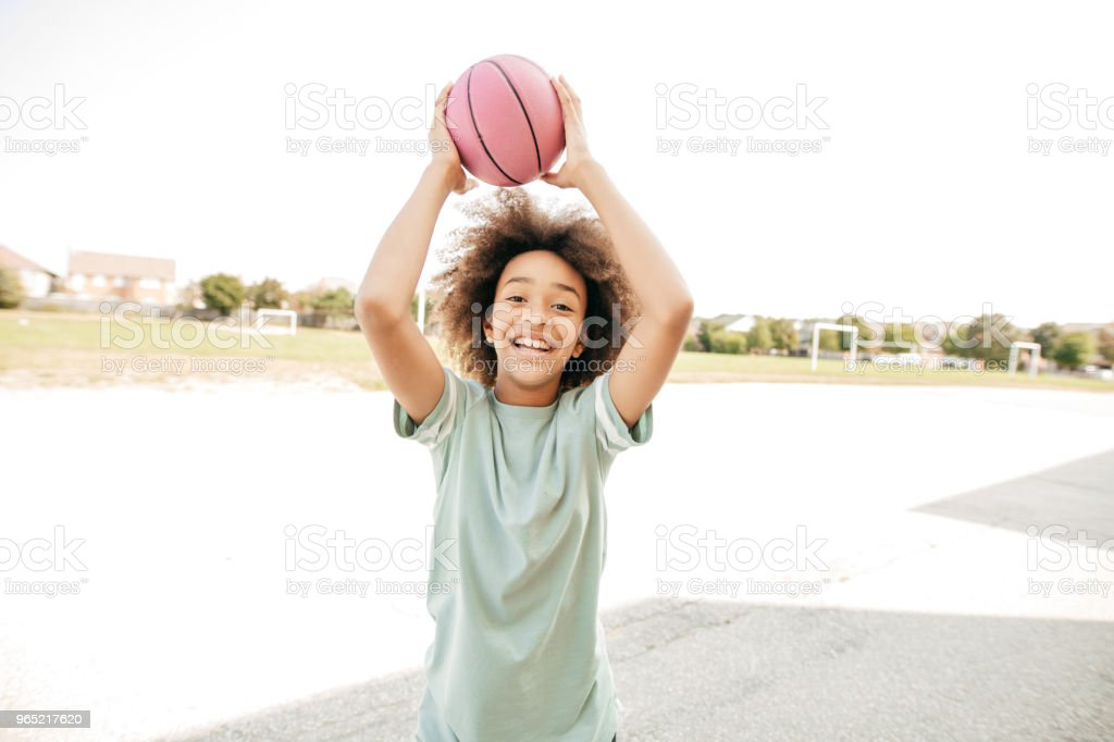 An athletic girl royalty-free stock photo
