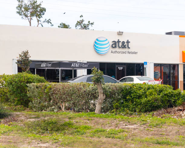 An AT&T Mobility sign in Jacksonville. AT&T Mobility is the second largest wireless telecommunications provider in the United States and Puerto Rico. stock photo