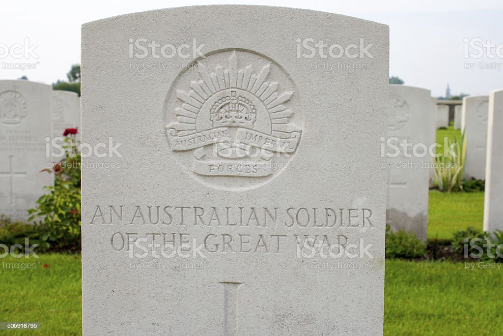 An Australian soldier of the great world war one. stock photo