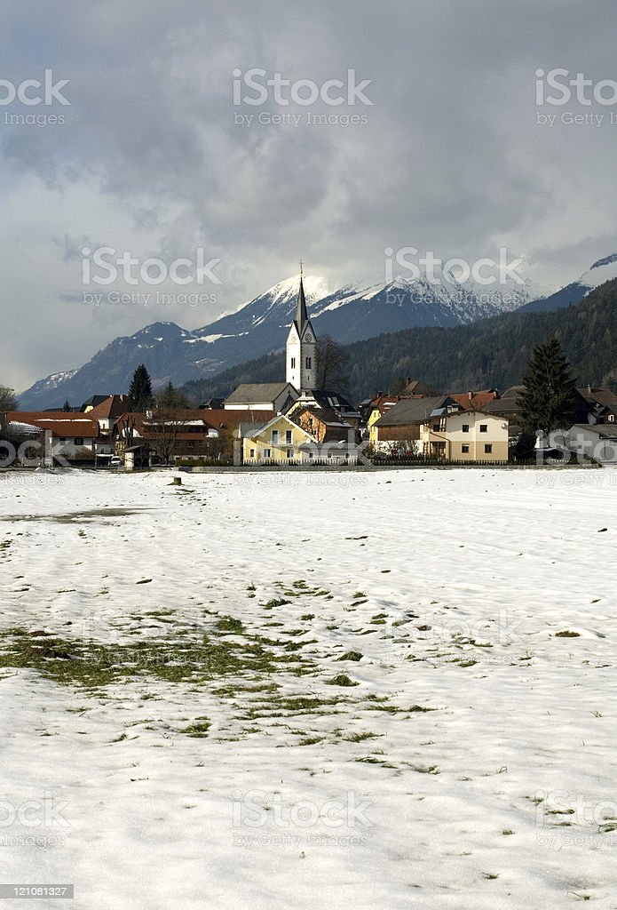 An Austrian Alpine Village royalty-free stock photo