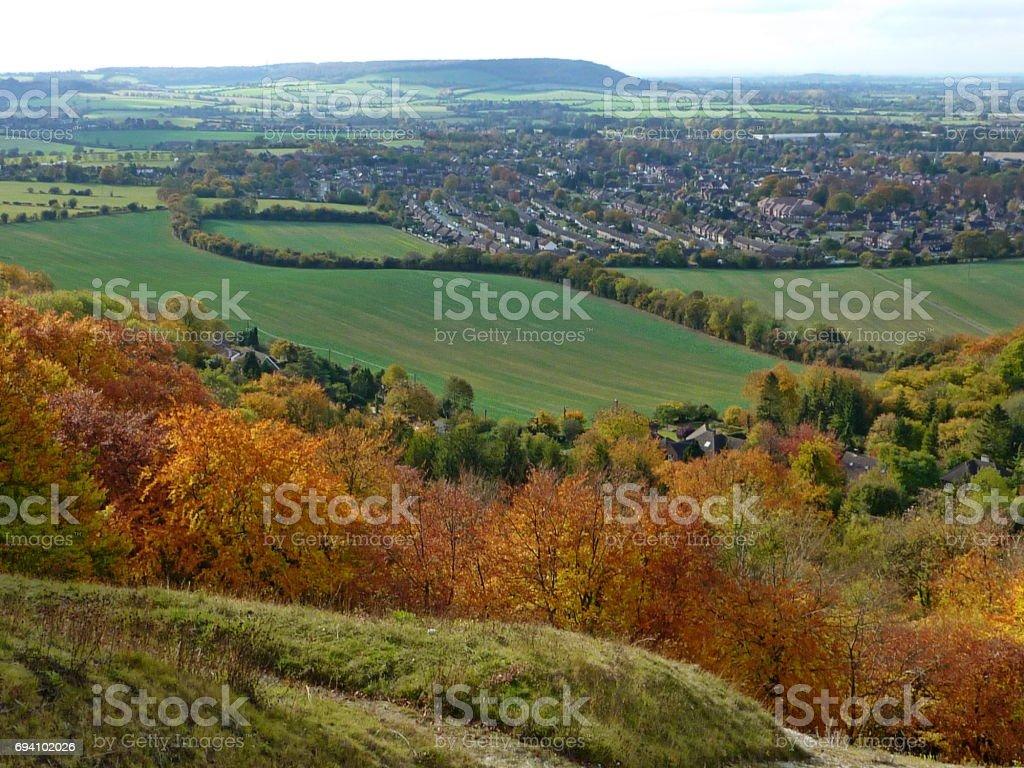 An autumn in the Chilterns - Princes Risborough, Buckinghamshire stock photo