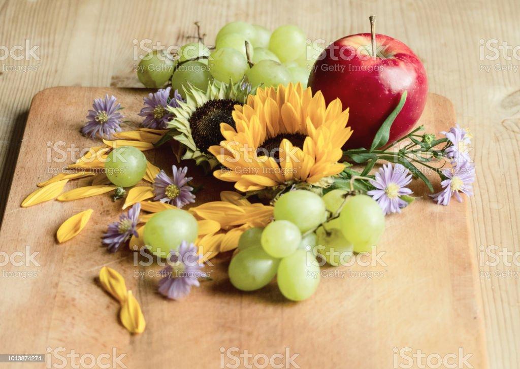 An autumn still life stock photo