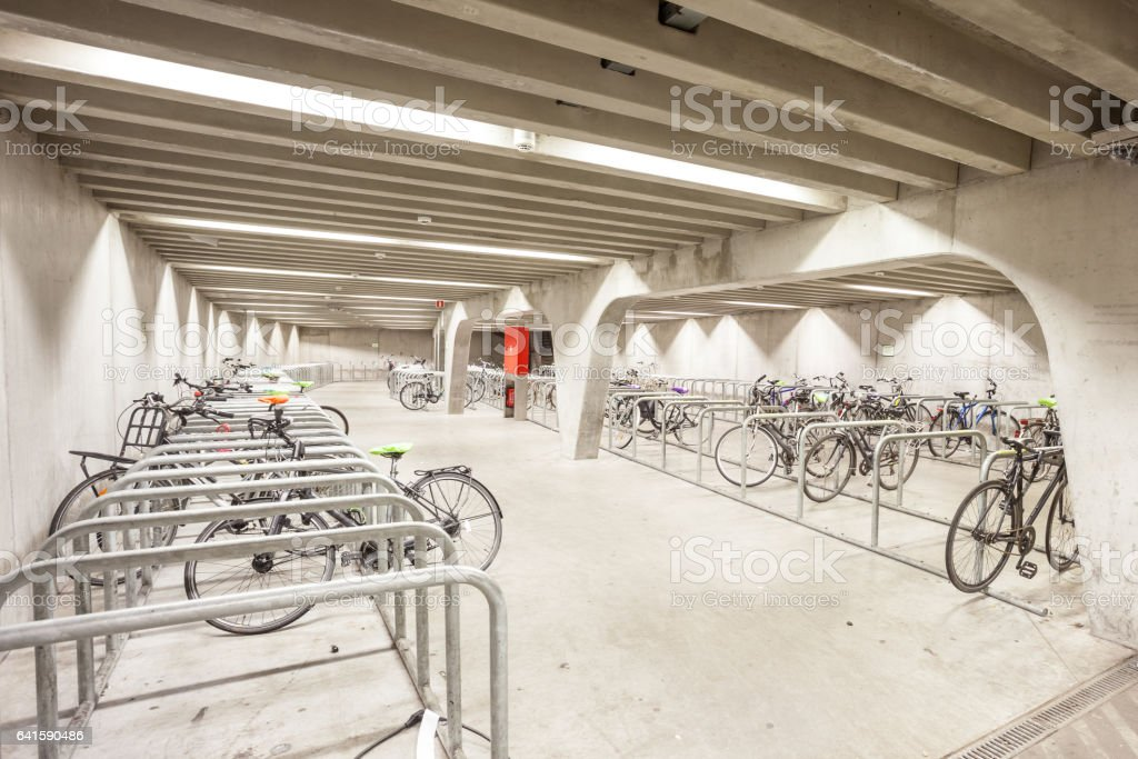 an bicycle parking stock photo
