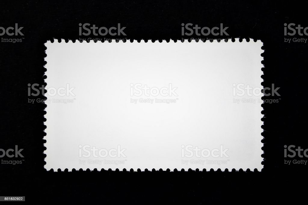 An concept image of a blank stamp, postage stock photo