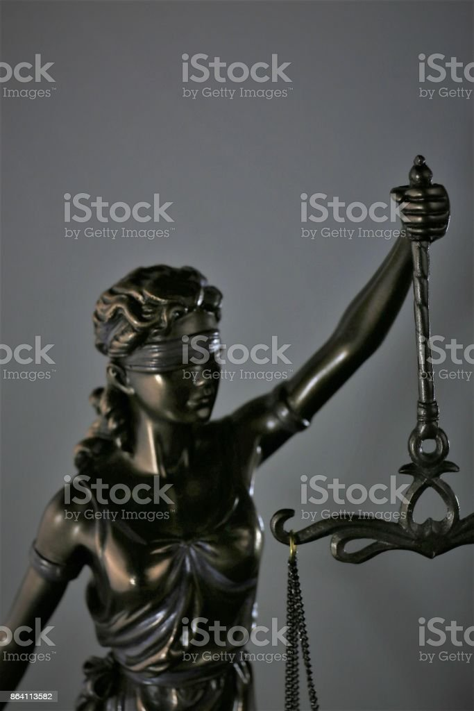 An concept Image of a dark justice Lady - symbol royalty-free stock photo