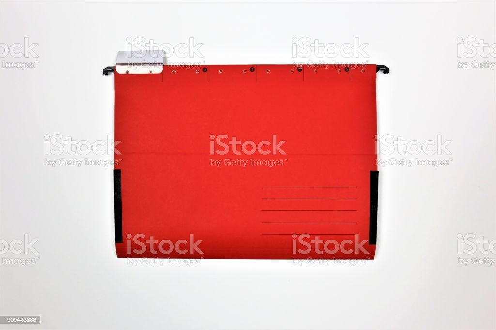 An concept image of a folder with copy space stock photo