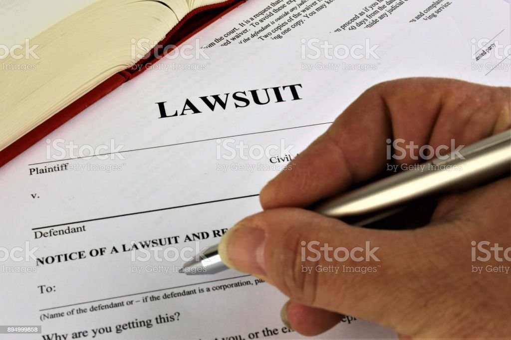 An concept Image of a lawsuit stock photo