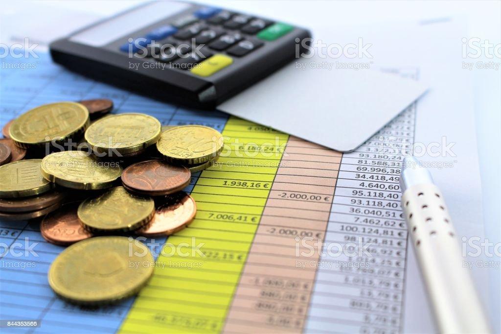 An concept image of a spreadsheet stock photo