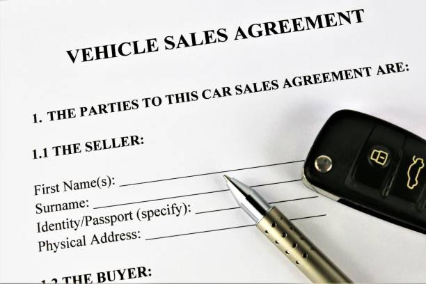 an concept image of a vehicle sales agreement stock photo istock