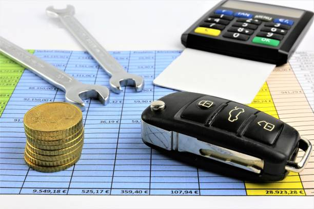 An concept Image of car maintenance costs - repair costs An concept Image of car maintenance costs - repair costs depreciation stock pictures, royalty-free photos & images