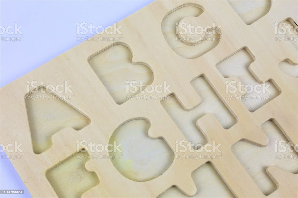An concept Image of letters, pre School, education stock photo