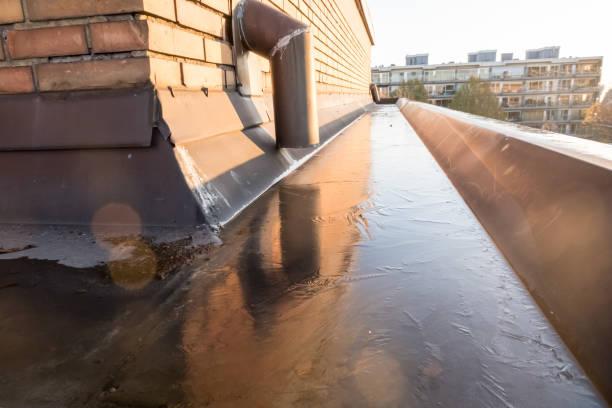 Eine Kupferregenentwässerung – Foto