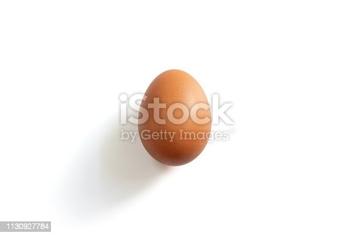 Photo of an egg on the white background