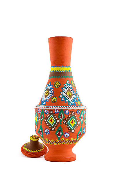 An Egyptian pottery vessel stock photo