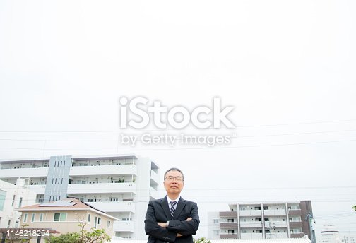 891418990 istock photo An elderly businessman. Business person with gray hair. 1146218254