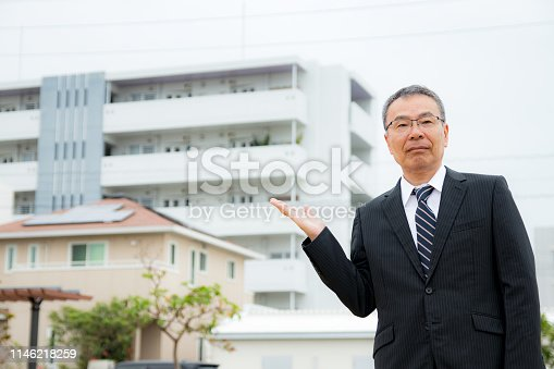 891418990 istock photo An elderly businessman. Business person with gray hair. 1146218259