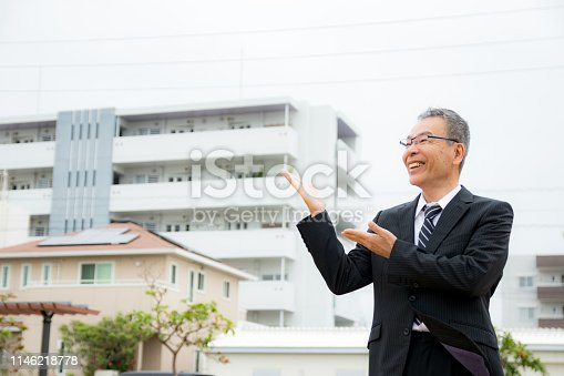 891418990 istock photo An elderly businessman. Business person with gray hair. 1146218778