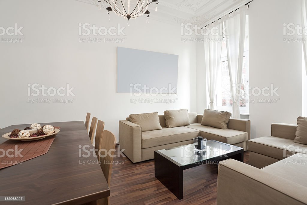 An elegant bright soft toned living room royalty-free stock photo