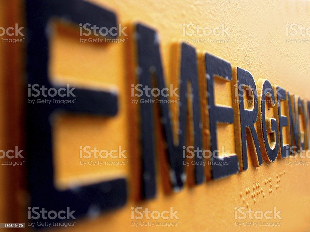 an emergency sign royalty-free stock photo