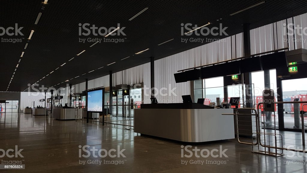 An empty airport stock photo
