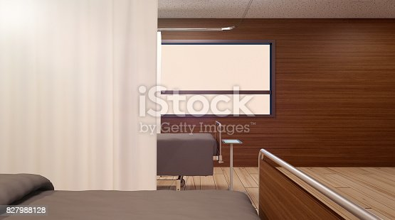 istock An empty bed in the city hospital. Copy space 827988128
