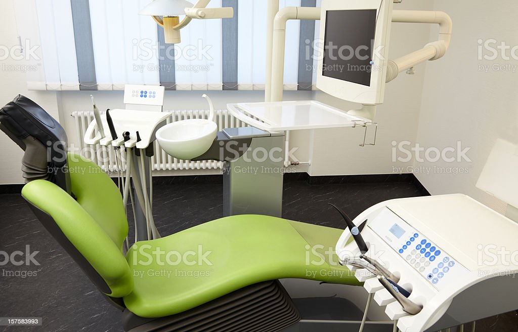 An empty dentist surgery with equipment royalty-free stock photo