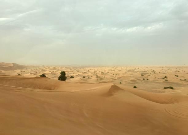 An empty desert. stock photo