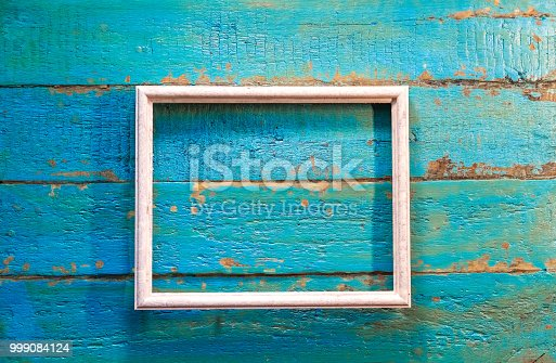 istock An empty frame for photos and images of white color 999084124