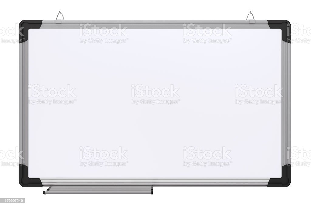 An empty rectangular office magnetic board plain royalty-free stock photo