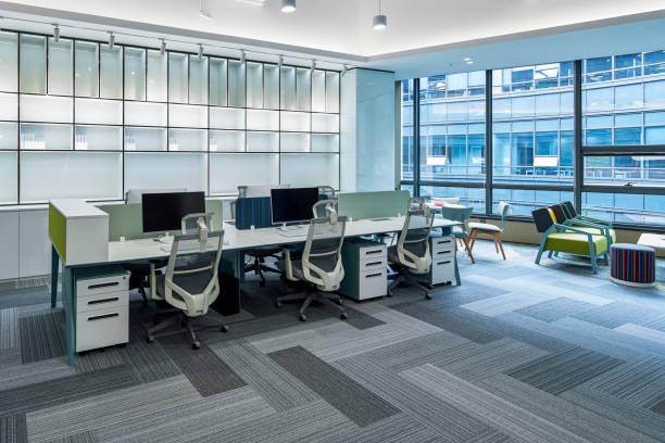 オフィスの空っぽのシーン - オフィス家具 ストックフォトと画像