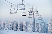 istock An empty ski lift during winter 108313841