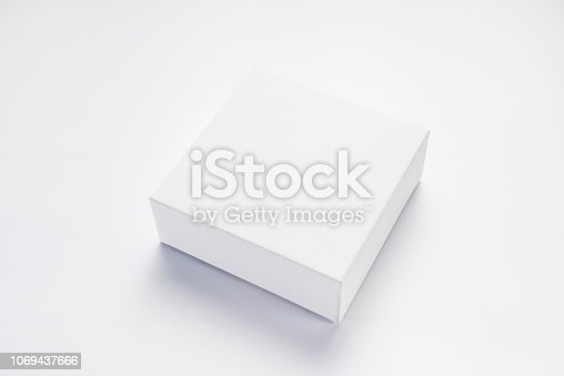 An empty white box on a white background
