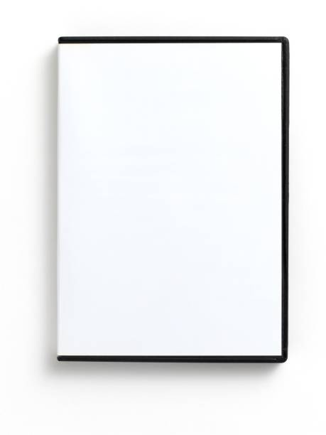 An empty white DVD case on a white background  stock photo