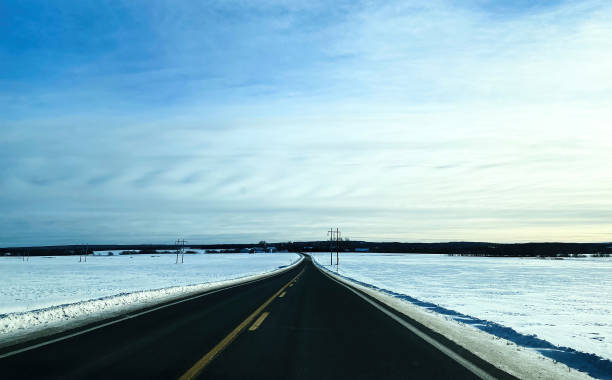 An endless road. stock photo