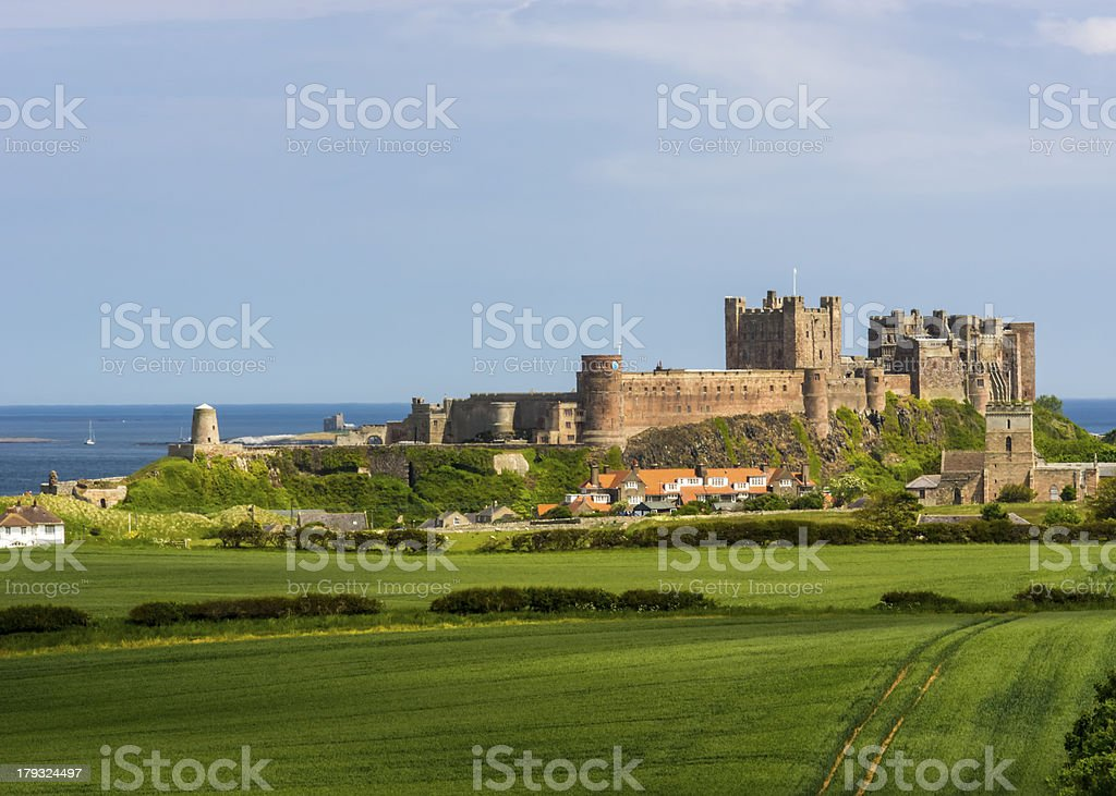 An English Castle Bamburgh Northumberland stock photo