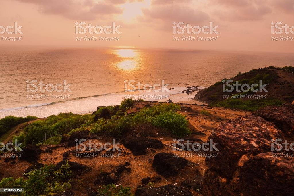 An evening in Goa stock photo