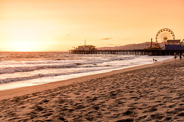 santa monica beach, Los Angeles, Kalifornia – zdjęcie