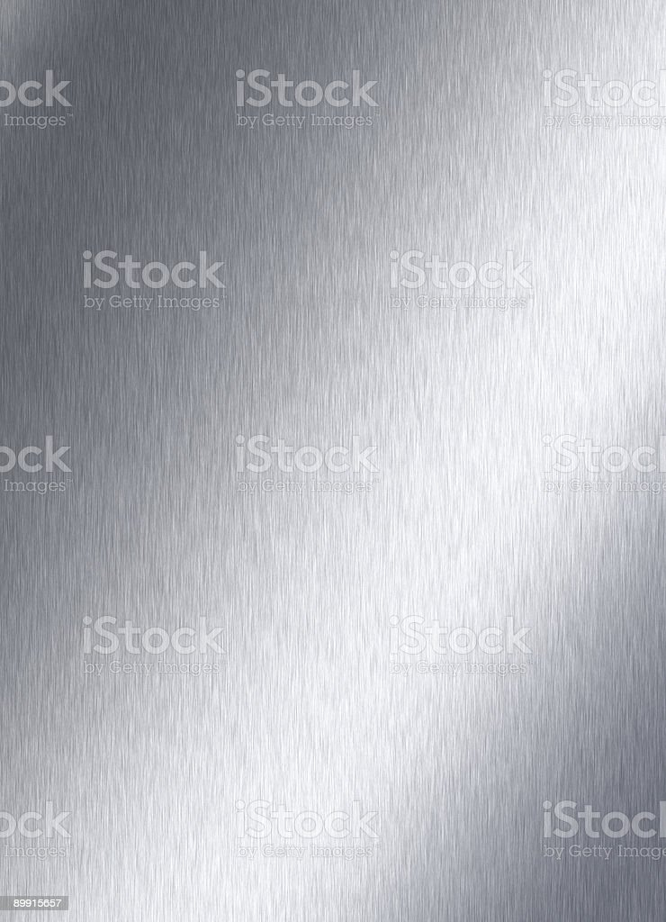 An example of a plain brushed steel plate royalty-free stock photo