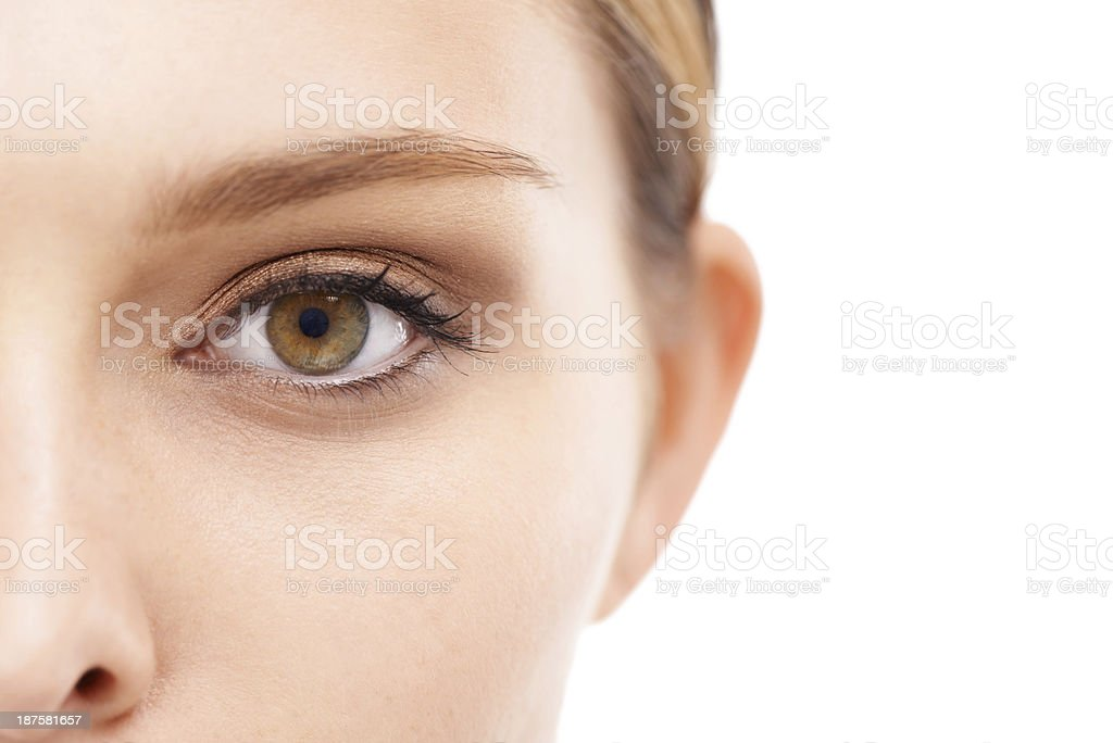 An eye for beauty stock photo