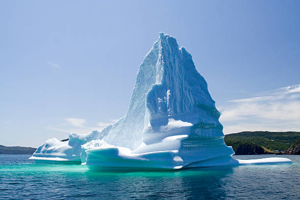 An iceberg in the middle of trinity bay, Canada