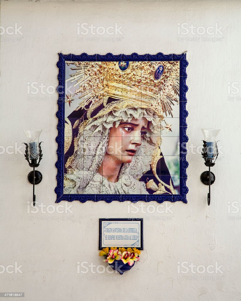 An Icon of the Madonna royalty-free stock photo