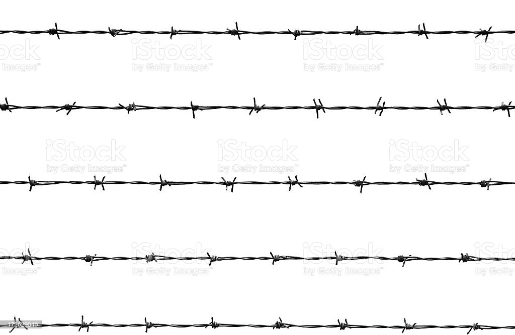 An Illustration Of A Barb Wire Stock Photo & More Pictures of Barbed ...