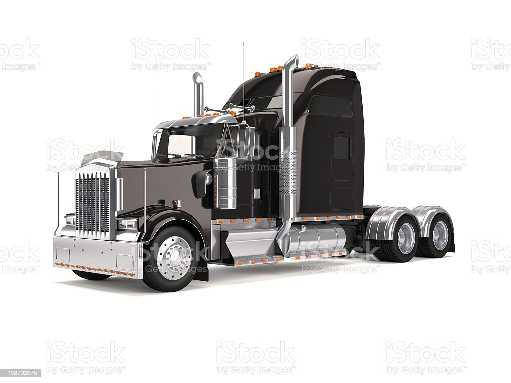 An illustration of a black American truck stock photo
