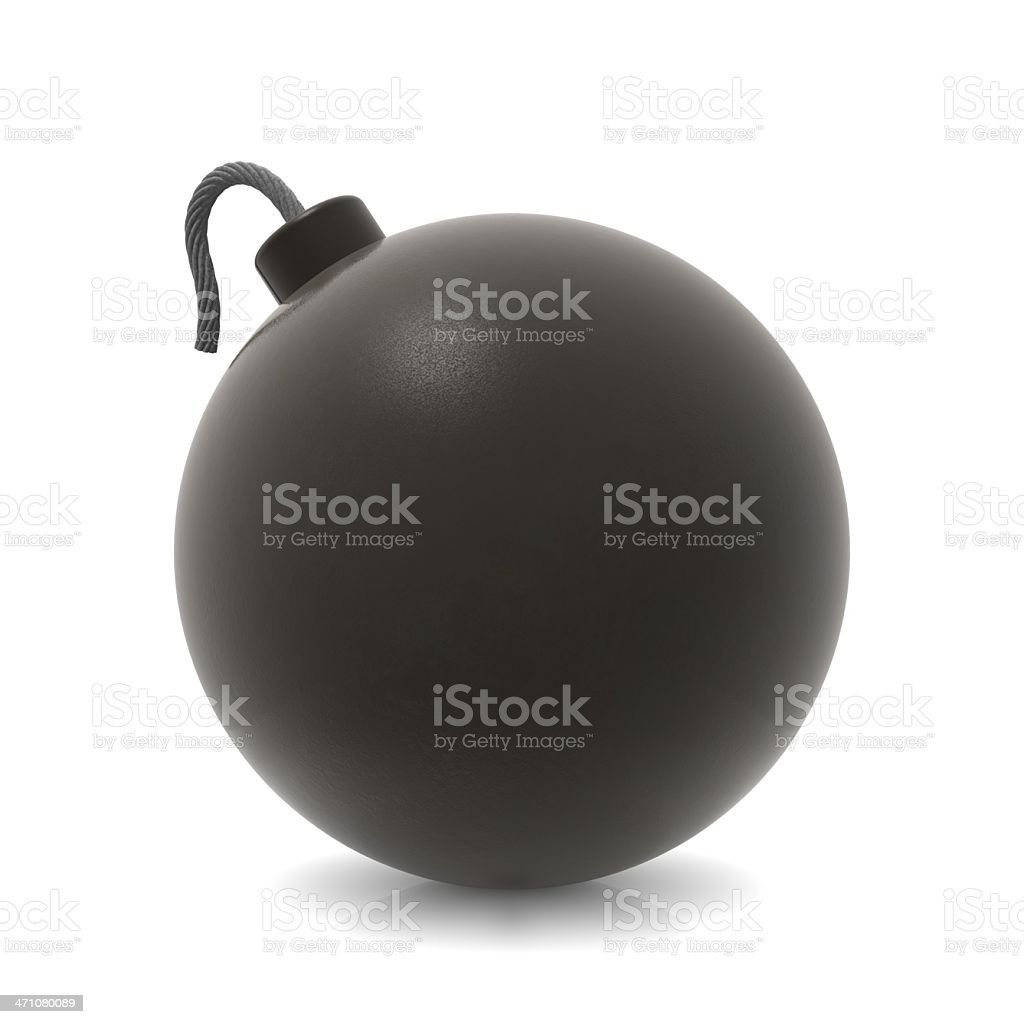 An illustration of a bomb on a white background royalty-free stock photo