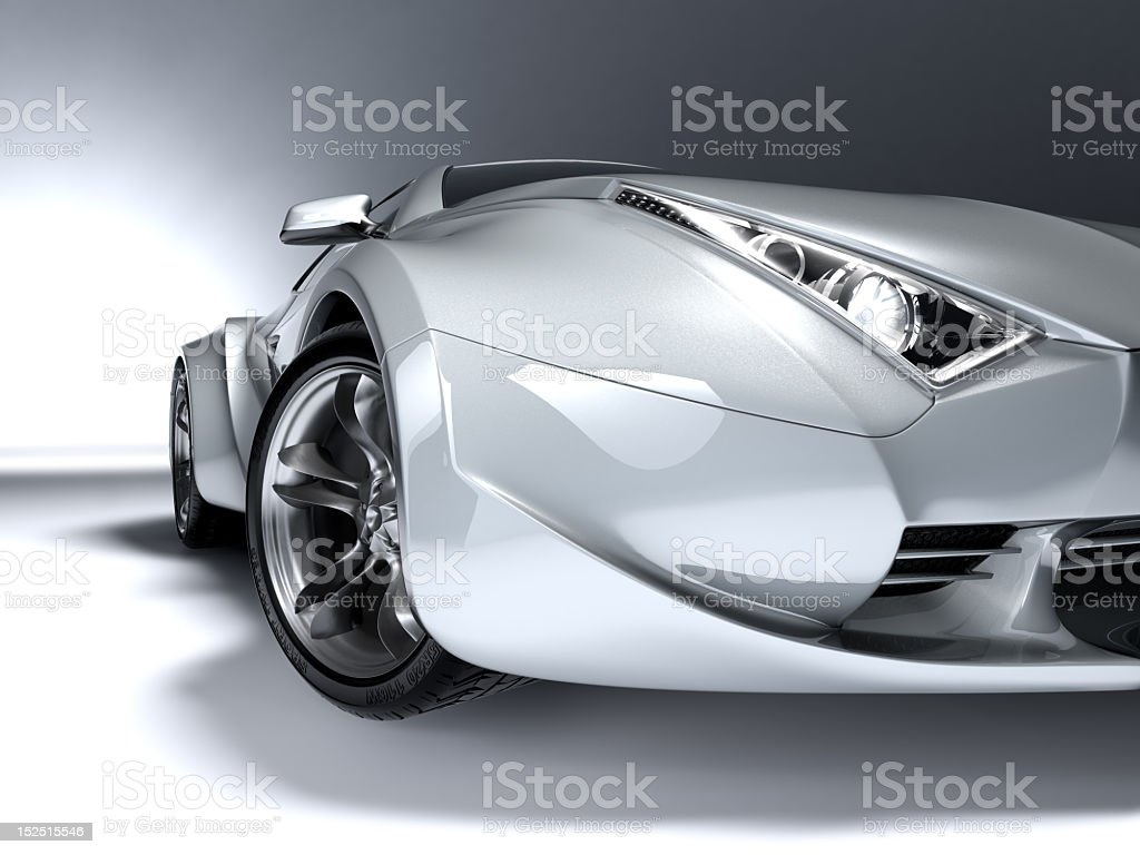 An illustration of a shiny car concept stock photo