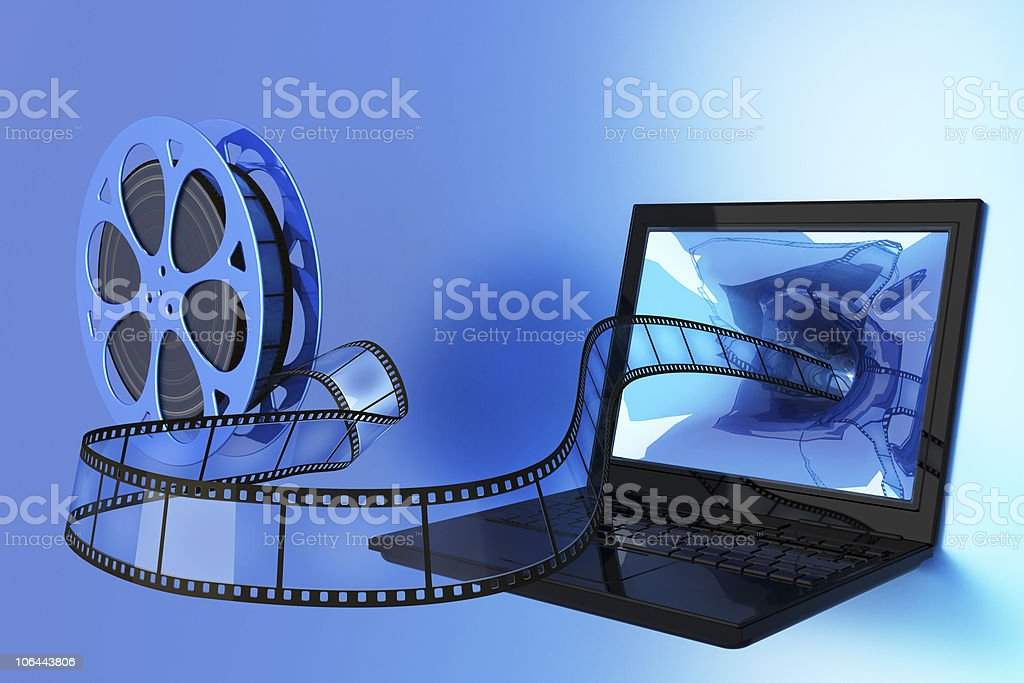 An illustration of film as a tool of multimedia  stock photo