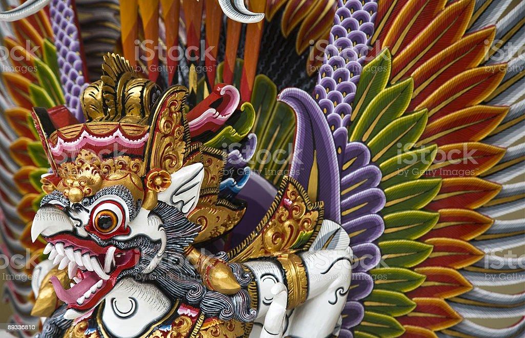 An illustration of Garuda from Hindu mythology stock photo