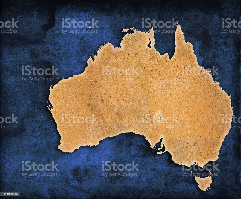 An illustration of the map of Australia stock photo